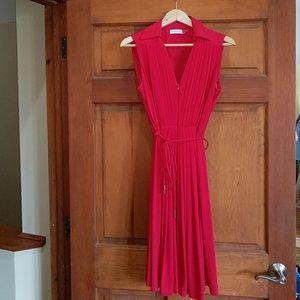 Red Calvin Klein Dress with collar